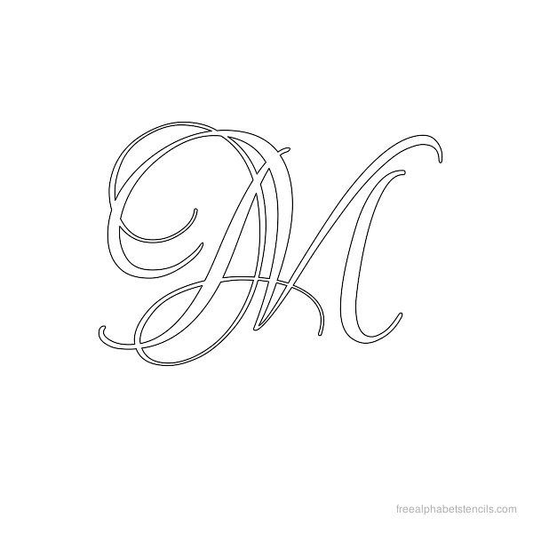 Calligraphy Alphabet Stencil M Woodburnin Ideas Pinterest