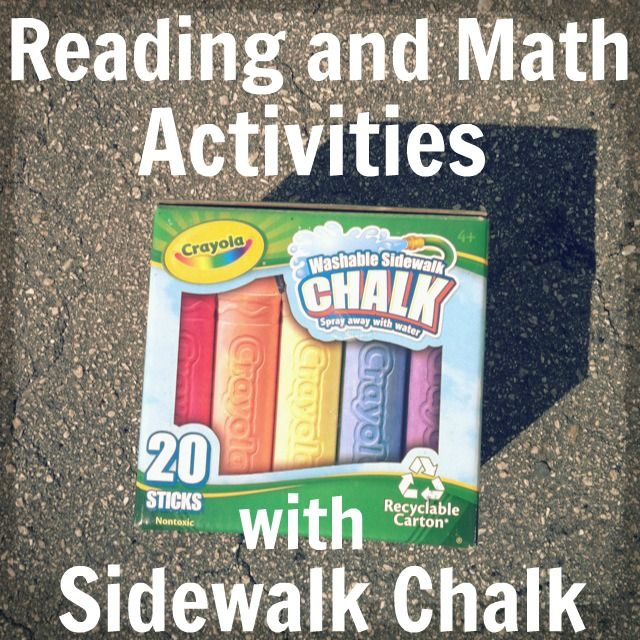 Summer Learning: Math and Reading Sidewalk Chalk Activities