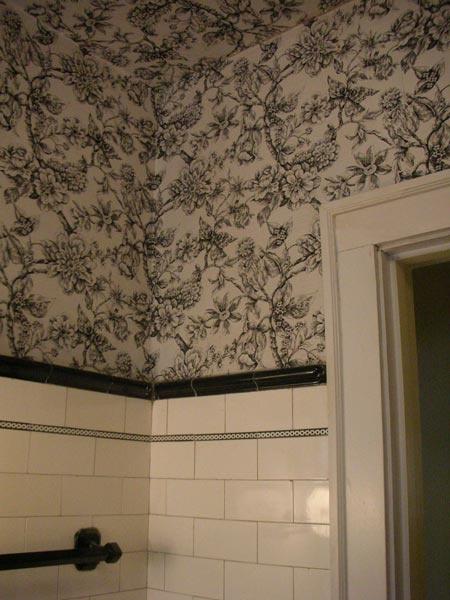 Vintage bathroom wallpaper 2017 grasscloth wallpaper for Bathroom wall paper