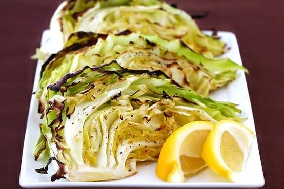 roasted cabbage wedges   Ommmm nom nom   Pinterest