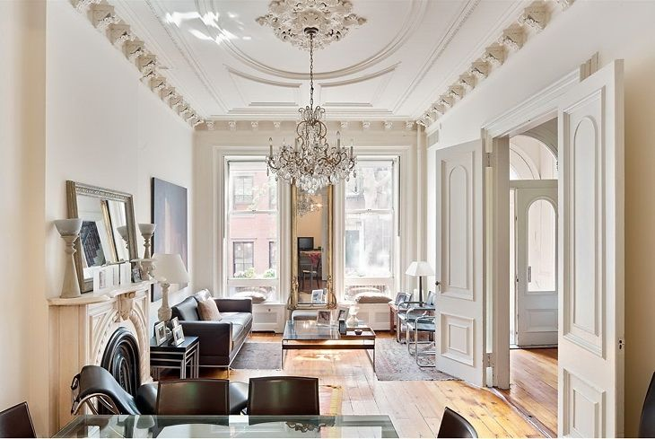 nyc brownstone i would decorate this with different furniture but i