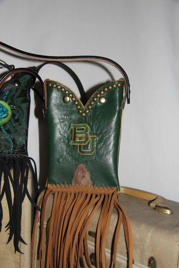 #Baylor Bear Western Boot Purse on Etsy