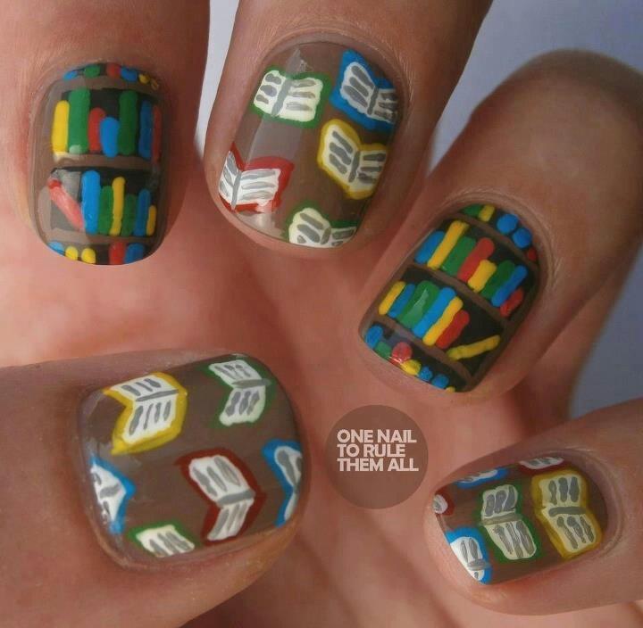 Book lover+Nail art lover | Nail Art | Pinterest