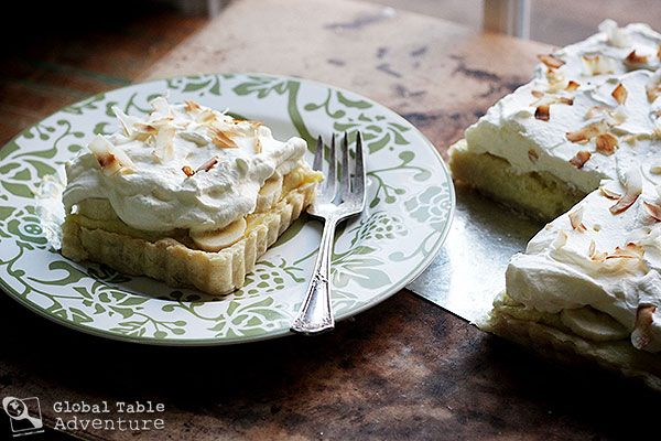 Creamy Coconut Tart from the Seychelles (I will omit the banana, since ...
