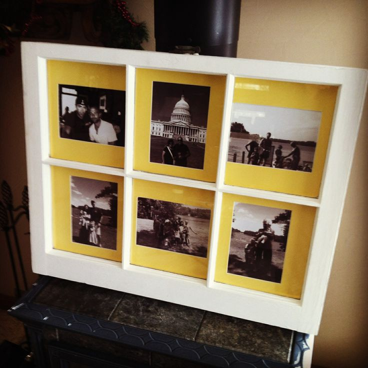 old window frame made picture frame reclaimed goods