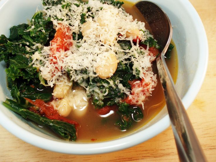 White bean, Kale, and Tomato Stew - made it today but I used Swiss ...