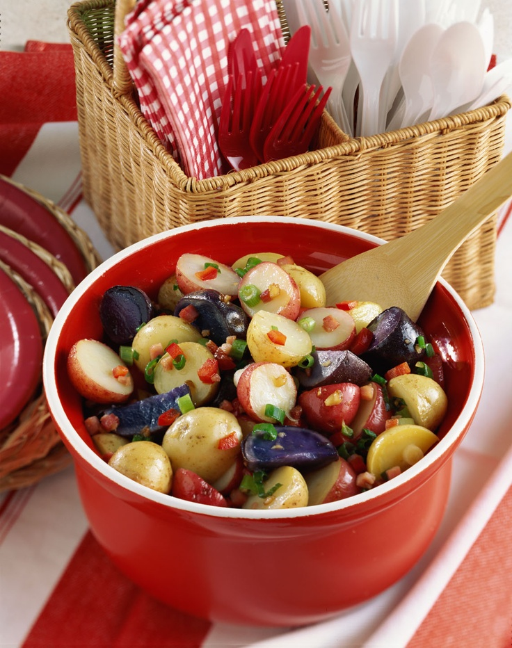 Red, white, blue potato salad | Patriotic Theme | Pinterest