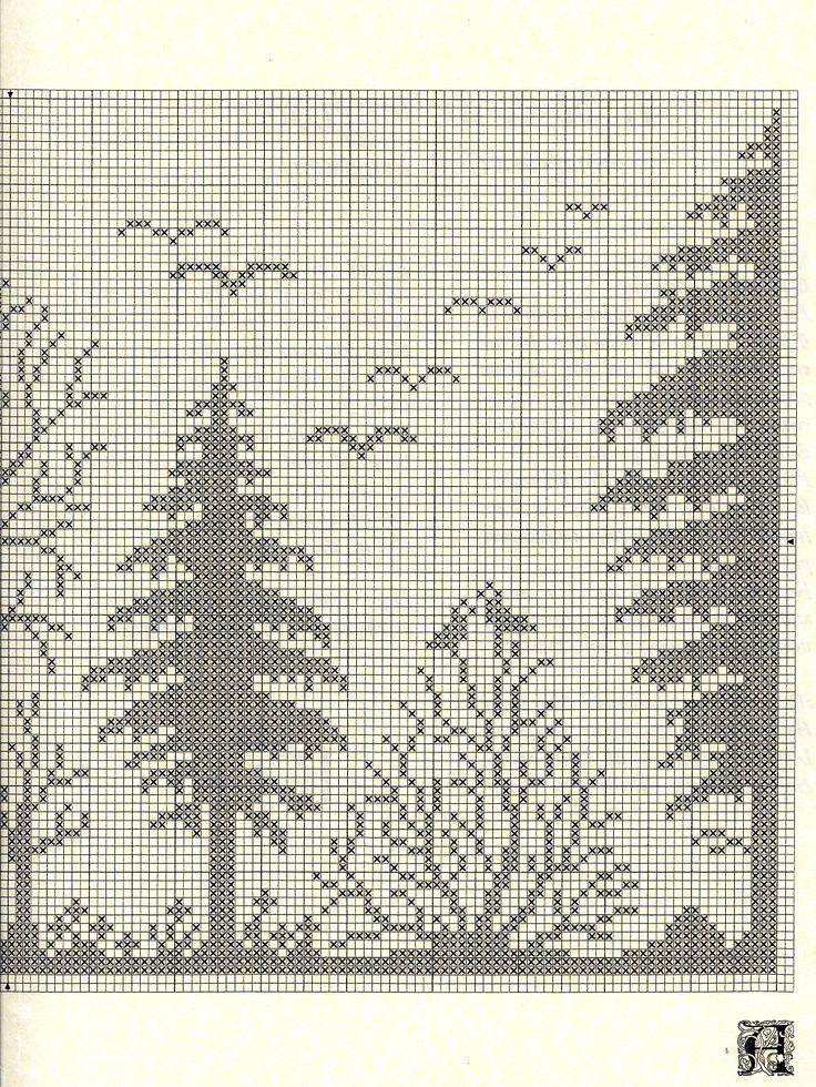 Схемы вышивка крестом шторы 75