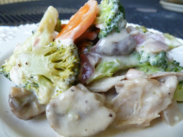 Chicken and Veggie Alfredo (dairy free) | Food and Drink | Pinterest