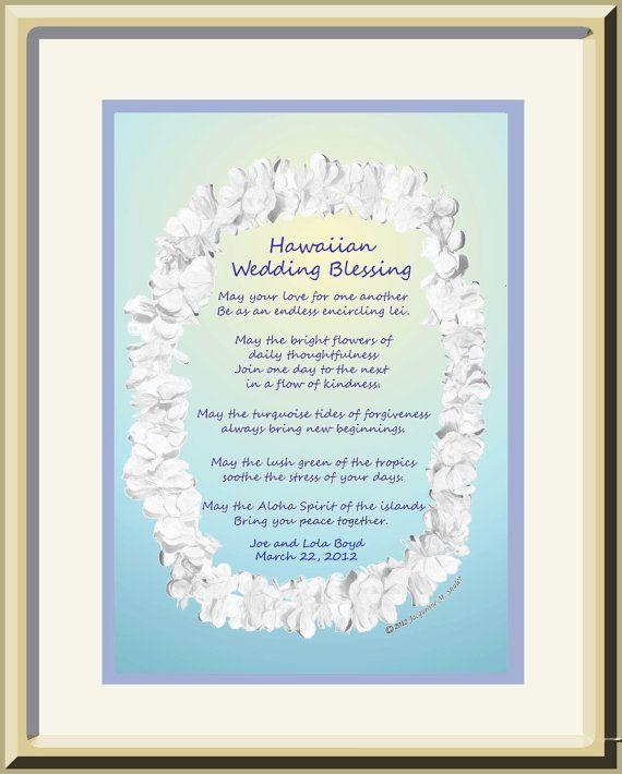 Wedding Gifts For Hawaii : Personalized Wedding Gift Hawaiian Wedding by jacquelineoriginals, USD51 ...