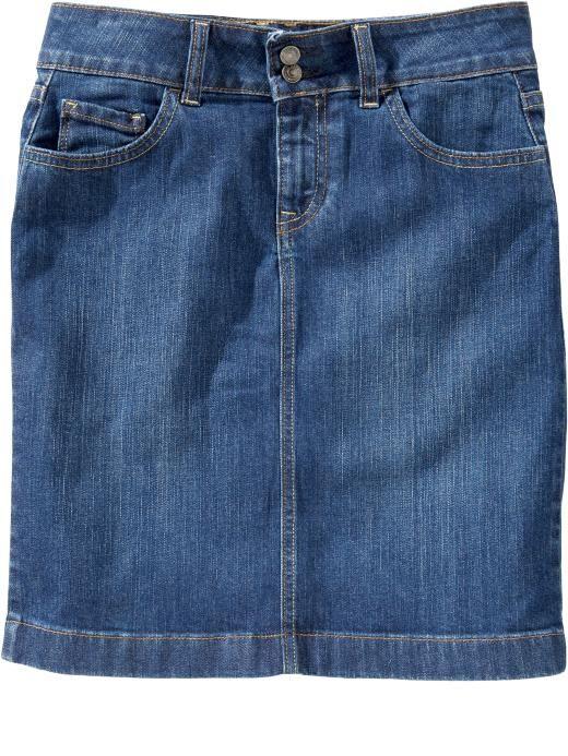classic denim skirt my style