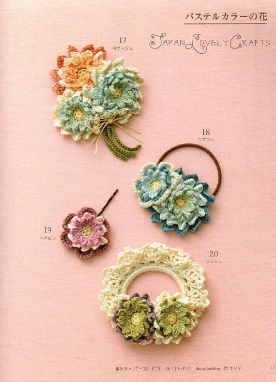Crochet Hair Accessories : Flower crochet hair accessory Crochet Pinterest