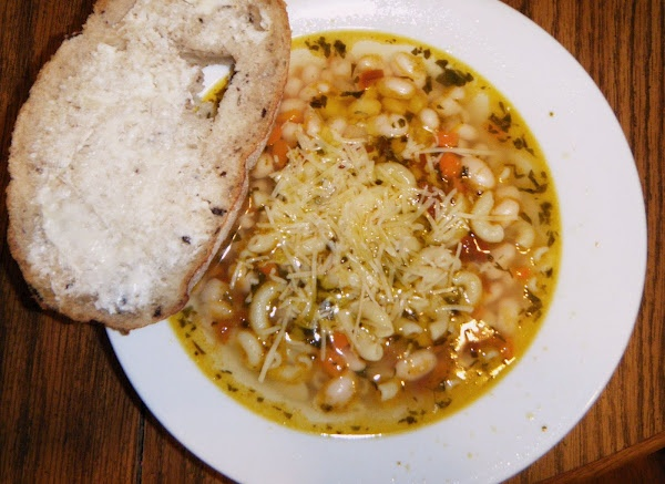 white bean and pasta soup with garlic and rosemary infused oil | Yummy ...