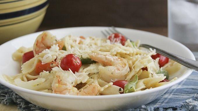 Lemon Herb Shrimp and Pasta | Recipe