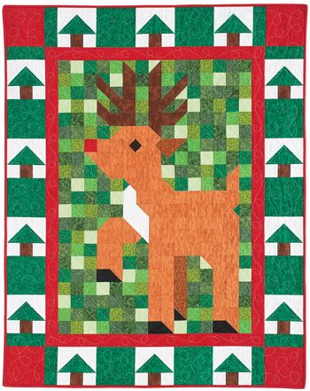 Jingle Patch from Quiltmaker Nov/Dec '12. Designed by Denise Starck, this is the final quilt in QM's Patch Pals Collection.