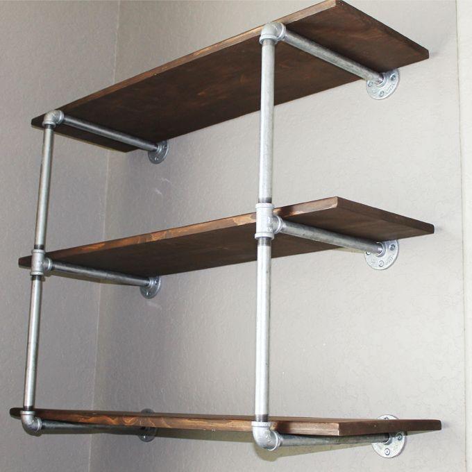 Industrial Shelves 10 DIY Pinterest