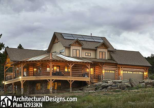 Dream mountain home plan for House plans for mountain views