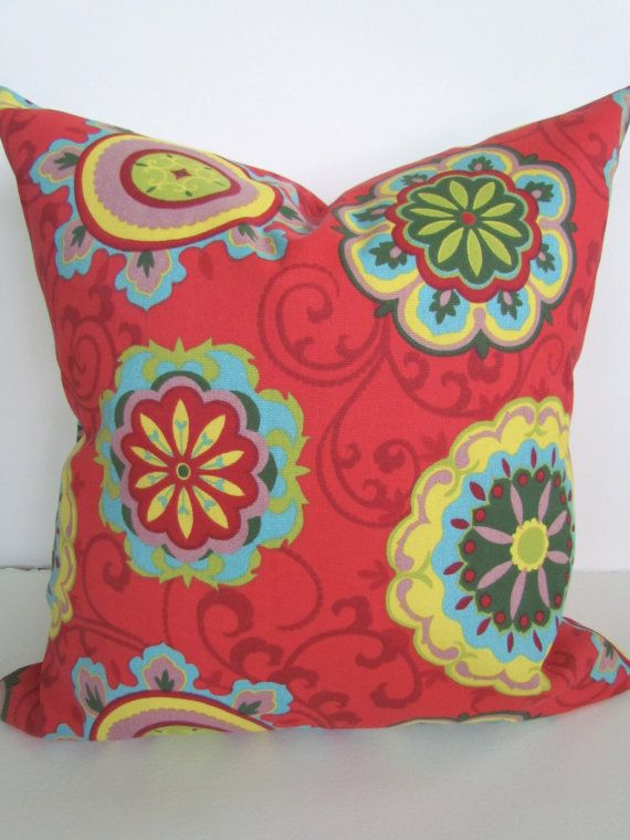 Throw Pillows With Red Coral : PILLOW Cover ORANGE RED Coral 16x20 or 12x20 Decorative Throw Pillows?