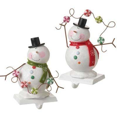 Snowman christmas stocking holder beauties