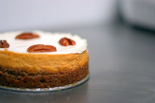 bourbon pumpkin cheesecake with pecan crust. this is happening for ...