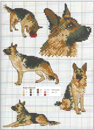 German Shepherd Cross Stitch Pattern