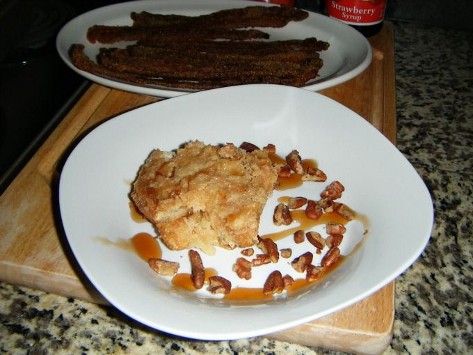 ... Orange French Toast w/ Cornmeal & Brown Sugar-Crusted Bacon ~recipes