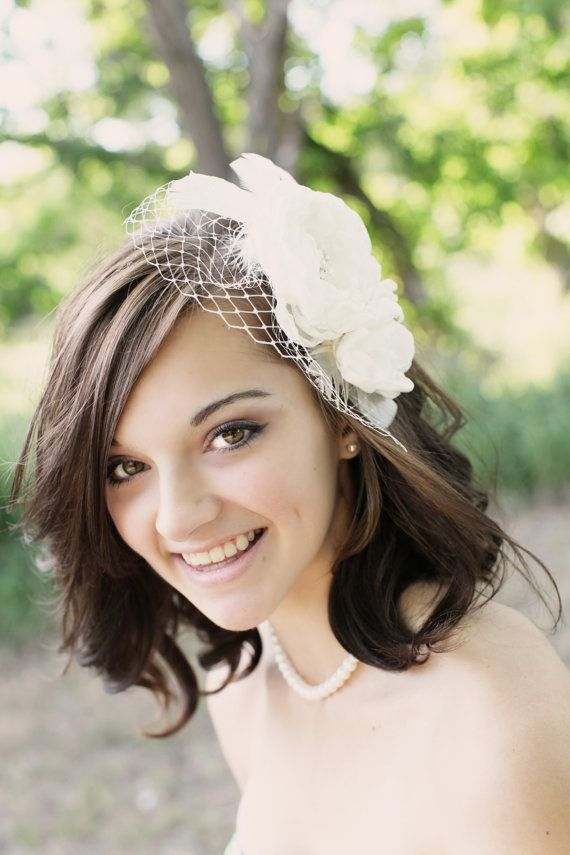 Ivory Bridal Flower Hair Clip duo Wedding by browneyedgirlsboutiq, $40.00
