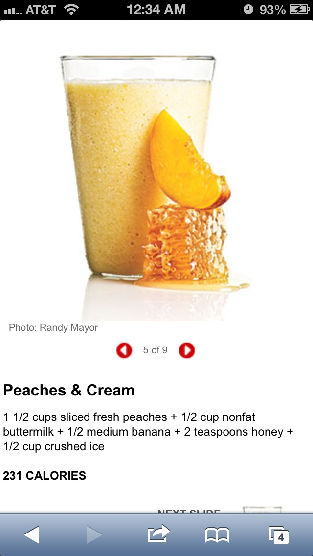 Creamy Peach Smoothies (Cooking For 2) Recipe — Dishmaps