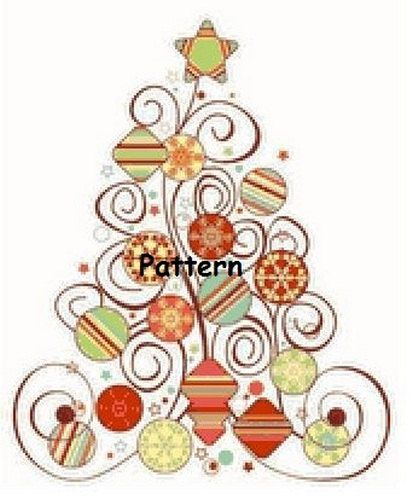 Christmas Tree.  Counted Cross Stitch by PatternsAndKitsWord, $8.99