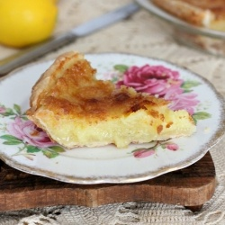 ... pie that will make you think it is almost spring time! Meyer Lemon