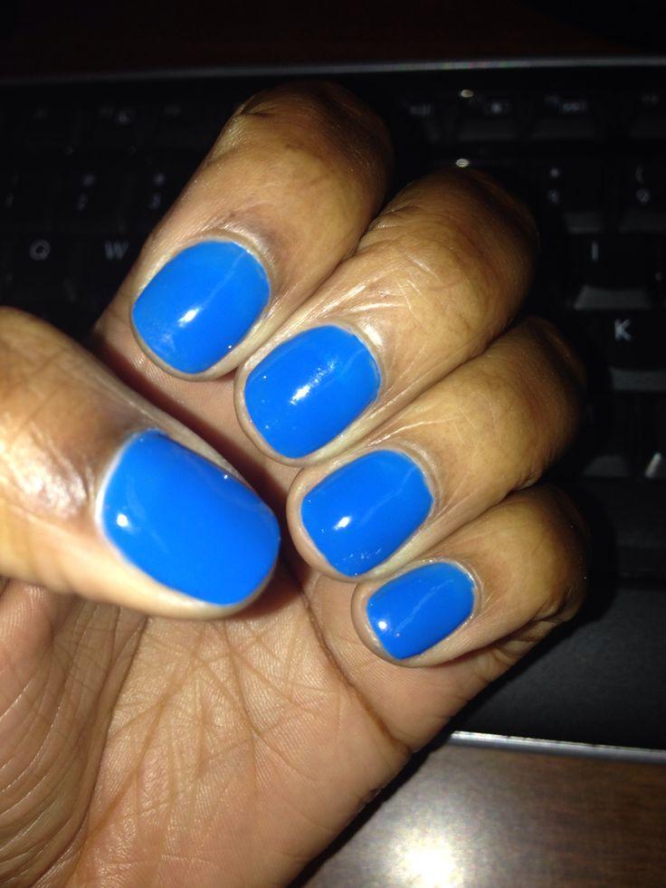 Blue shellac nails! Day 7 | Nail Designs | Pinterest