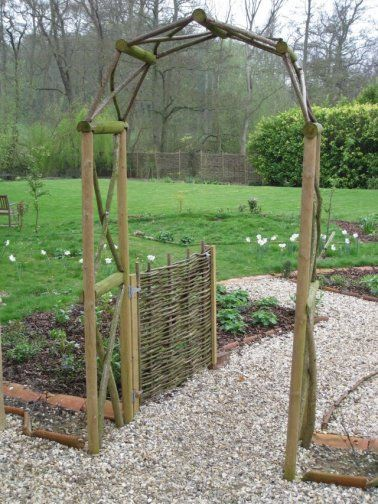 Rustic wooden garden arch Grow Pinterest