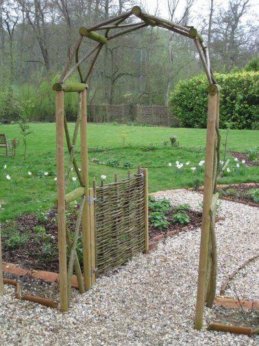 Rustic wooden garden arch grow pinterest - Garden wood arches ...