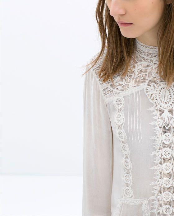 Zara Blouse With High Collar 118