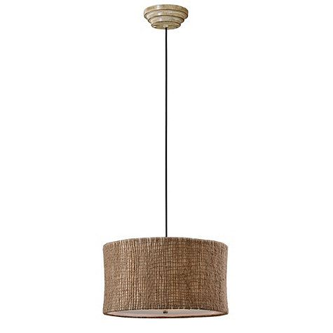 Natural Woven 3-Light Pendant  lighting.  Pinterest