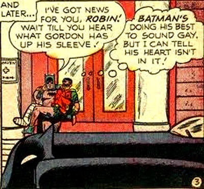 Batman's doing his best to sound gay