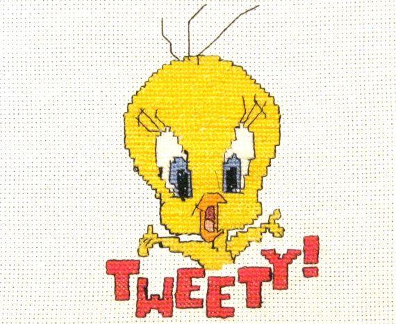 Gangster tweety bird with a gun