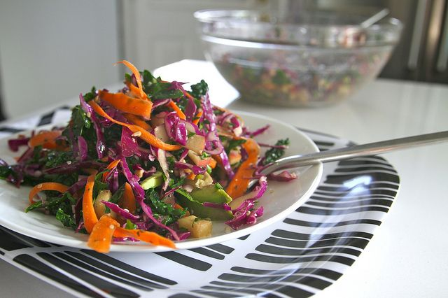 Kale coleslaw, with cabbage and carrott