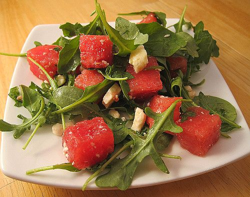 Arugula, Watermelon, and Feta Salad | Salads | Pinterest