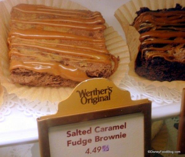 Salted Fudge Brownie in case   Disney   Pinterest