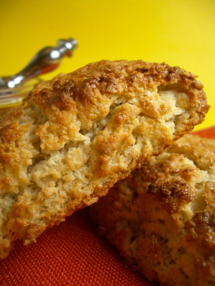 Toasted Oatmeal Scones | food | Pinterest
