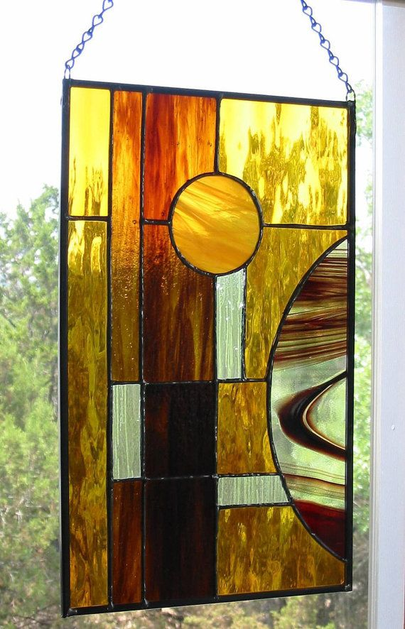 Amber Stained Glass Doors S