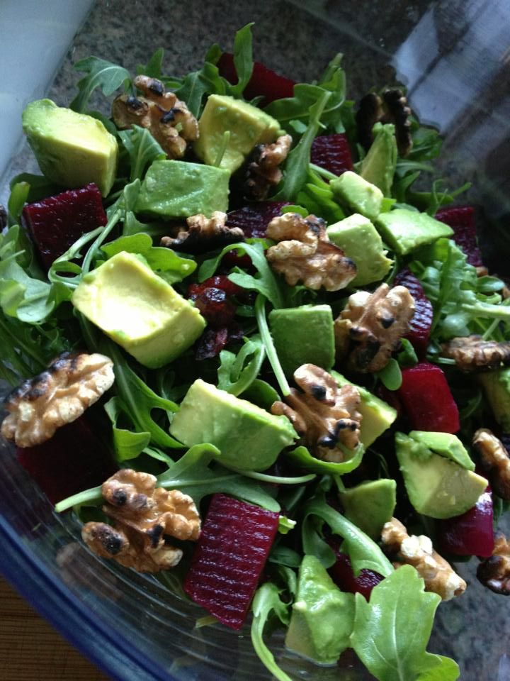 Beet Salad with Cranberries and Walnuts | Salads | Pinterest