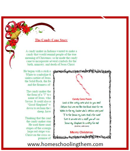 Candy+Cane+Poem+Printable | Fall and Winter Crafts | Pinterest