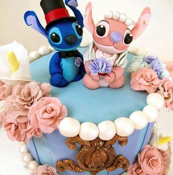 Lilo and stitch wedding cake