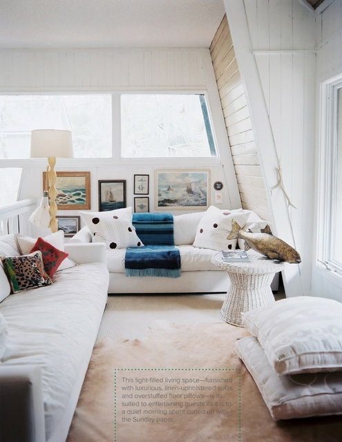 cute use for loft - cozy lounge