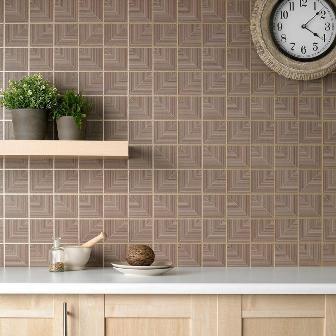 Mount textured wallpaper as a backsplash neat pinterest for Textured kitchen wallpaper