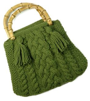 Cables & Bobbles Shoulder Bag - Party, Deco-ribbon
