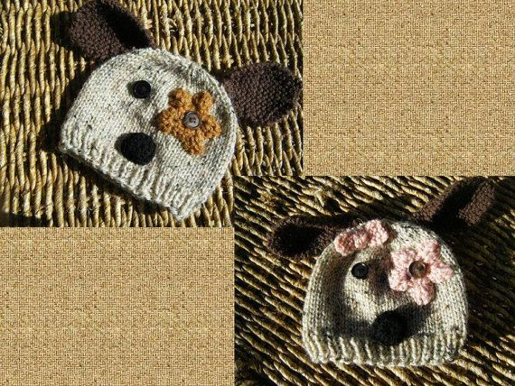 Download Knitting Patterns For Dogs : Downloadable Knit baby dog hat pattern