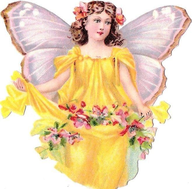 Glanzbilder - Victorian Die Cut - Victorian Scrap - Tube Victorienne - Glansbilleder - Plaatjes : Fee- Fairy